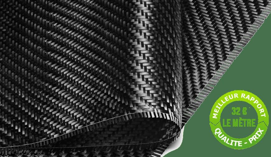 Tissu carbone au mètre carré